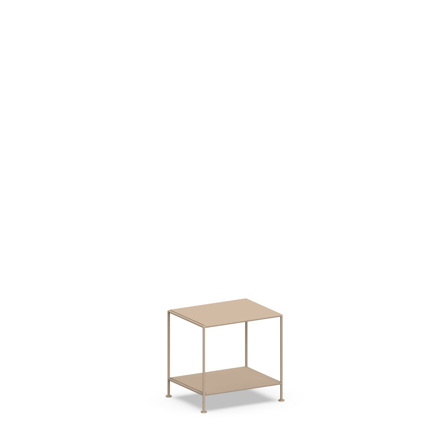 Stille Furniture Bedside Table Low in Taupe color