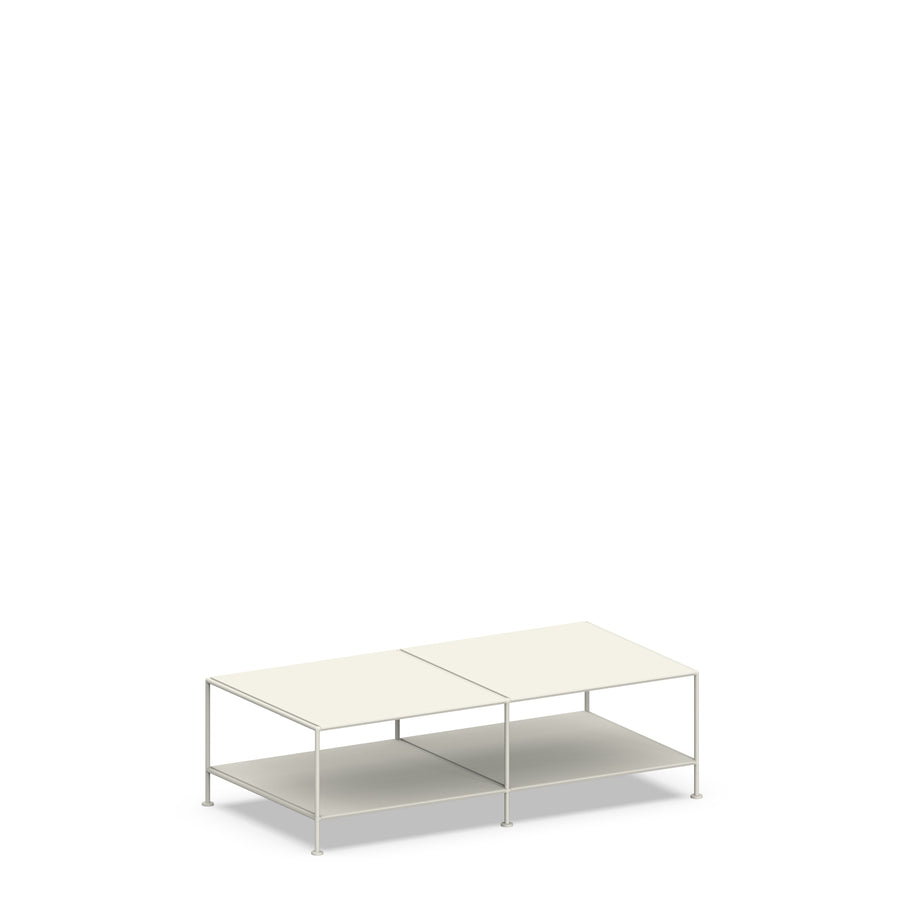 Stille Furniture Coffee Table Double in Bone color