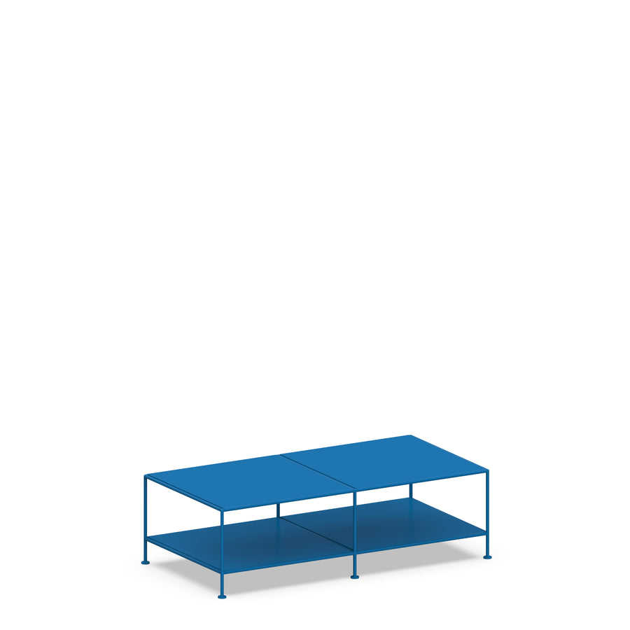 Stille Furniture Coffee Table Double in Cobalt color