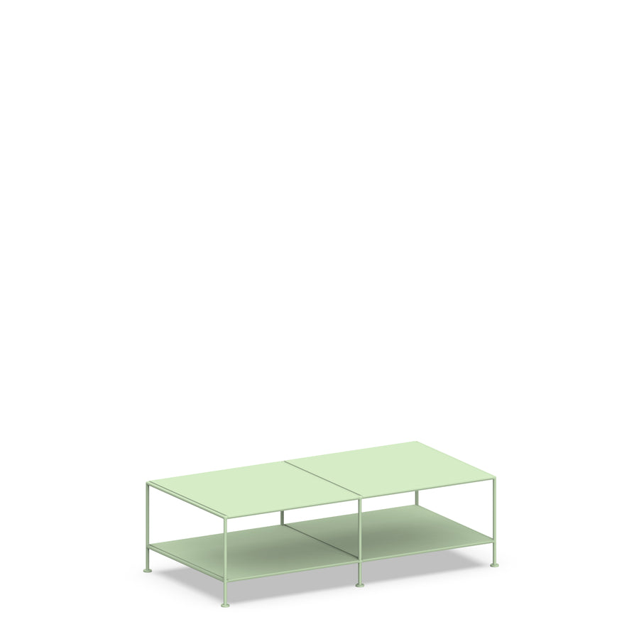 Stille Furniture Coffee Table Double in Mint color