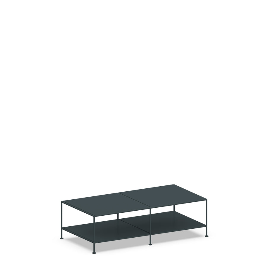 Stille Furniture Coffee Table Double in Slate color