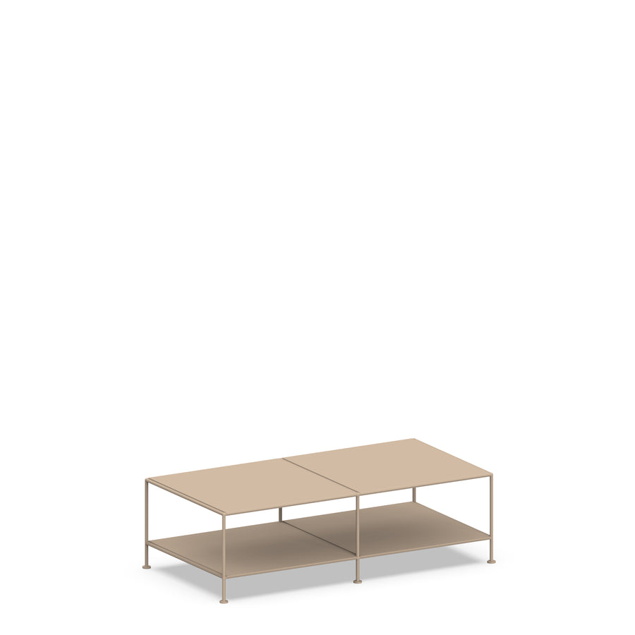 Stille Furniture Coffee Table Double in Taupe color