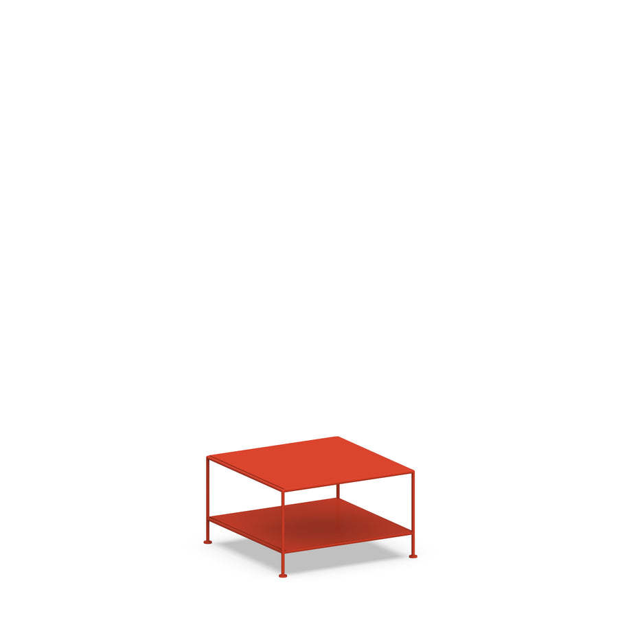 Stille Furniture Coffee Table Single in Tomato color