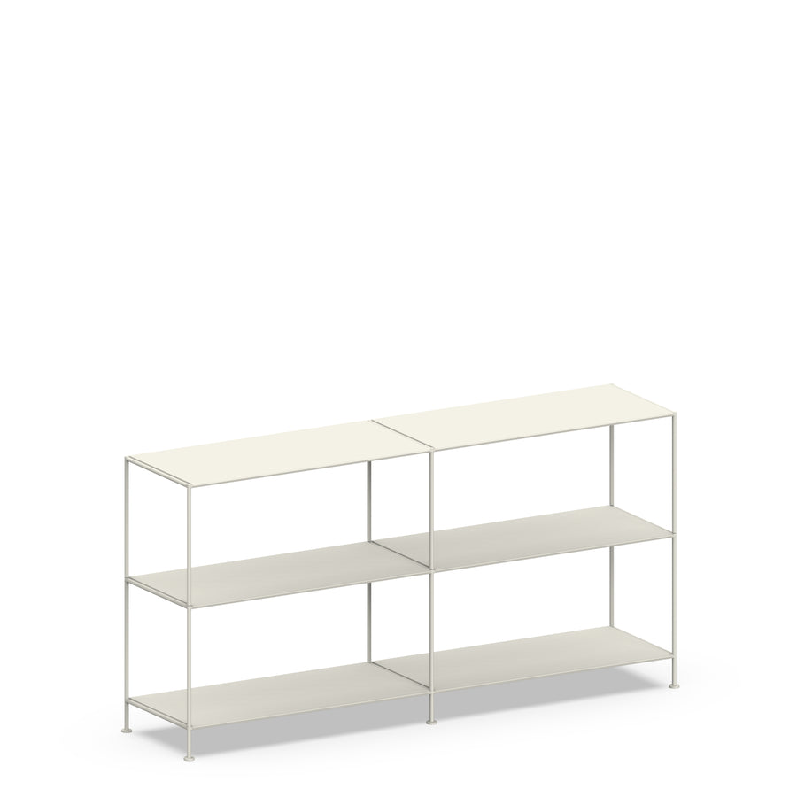 Stille Furniture Double-wide Shelves 3-tier in Bone color