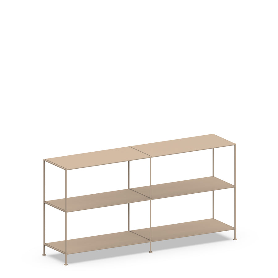 Stille Furniture Double-wide Shelves 3-tier in Taupe color