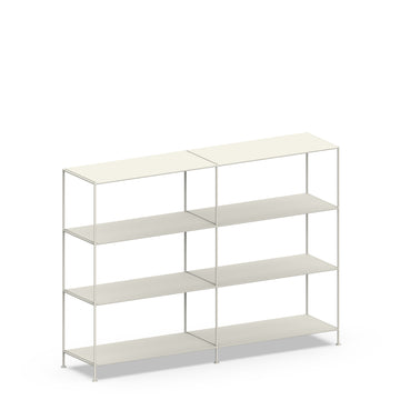 Stille Furniture Double-wide Shelves 4-tier in Bone color