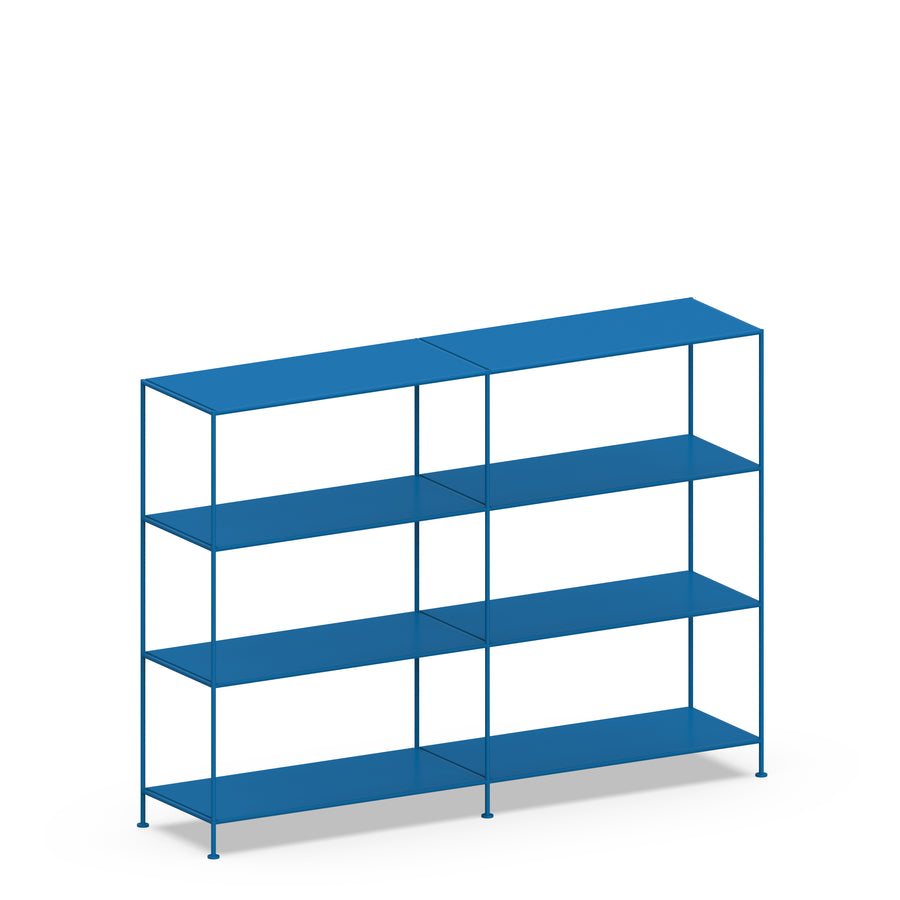 Stille Furniture Double-wide Shelves 4-tier in Cobalt color