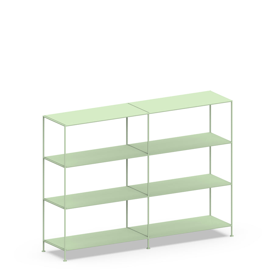 Stille Furniture Double-wide Shelves 4-tier in Mint color