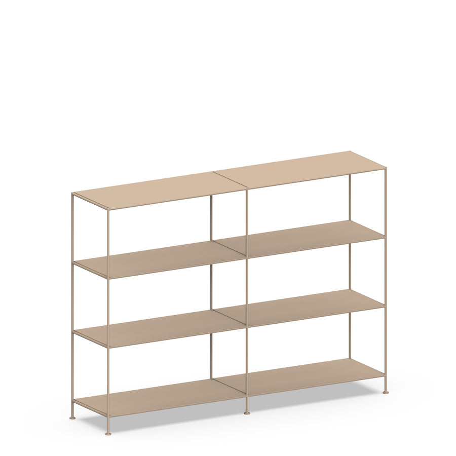 Stille Furniture Double-wide Shelves 4-tier in Taupe color