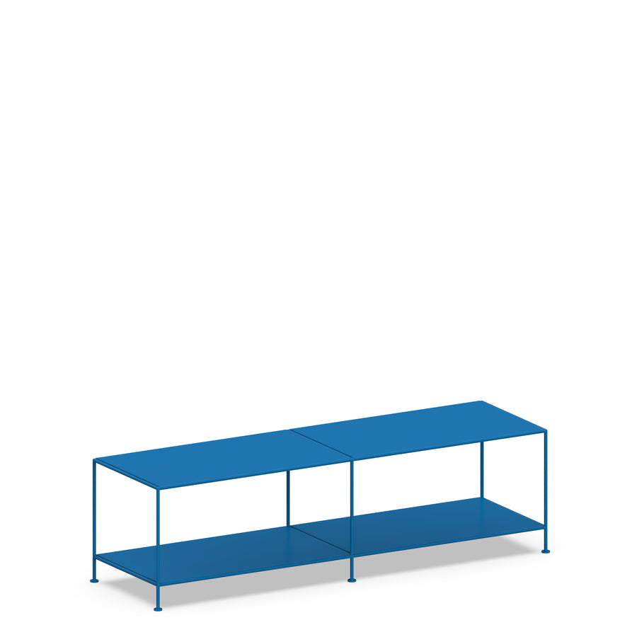 Stille Furniture Media Console Deep in Cobalt color