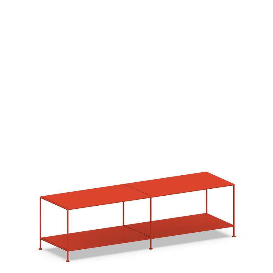 Stille Furniture Media Console Deep in Tomato color