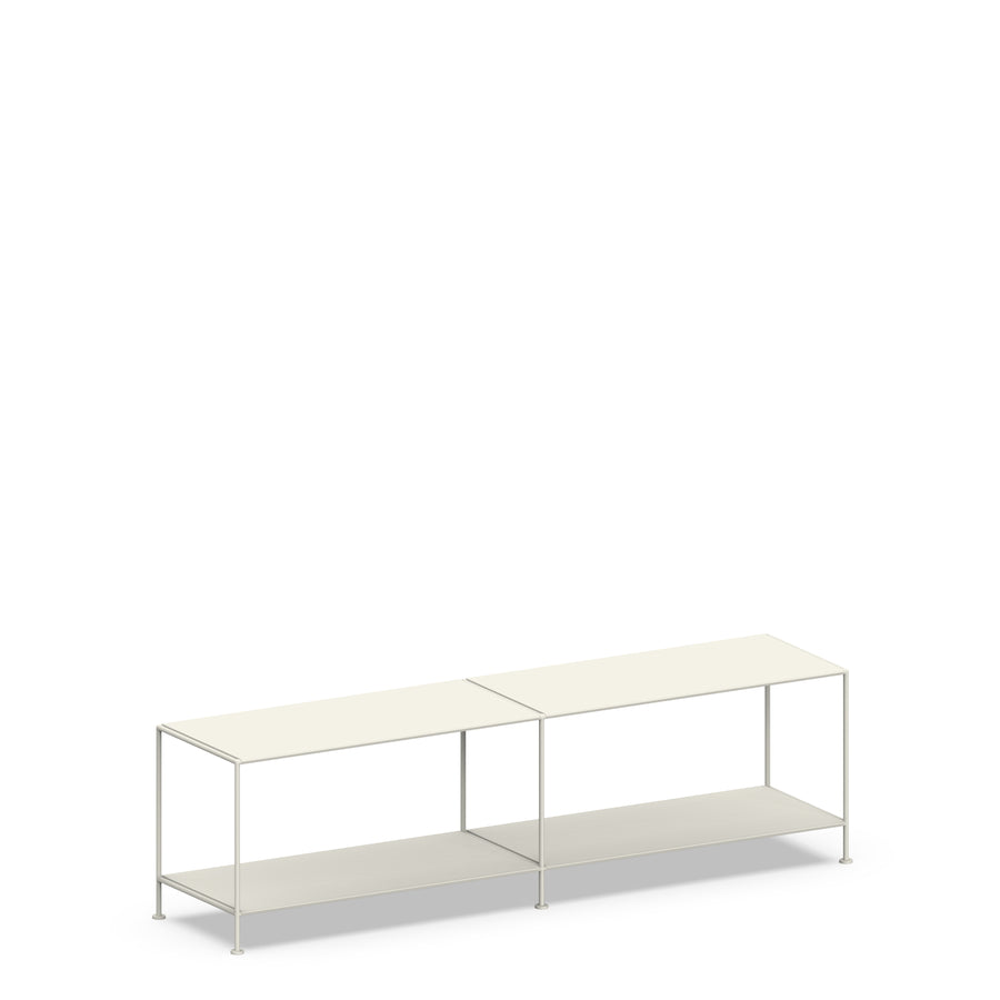 Stille Furniture Media Console Shallow in Bone color