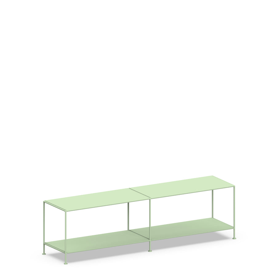 Stille Furniture Media Console Shallow in Mint color