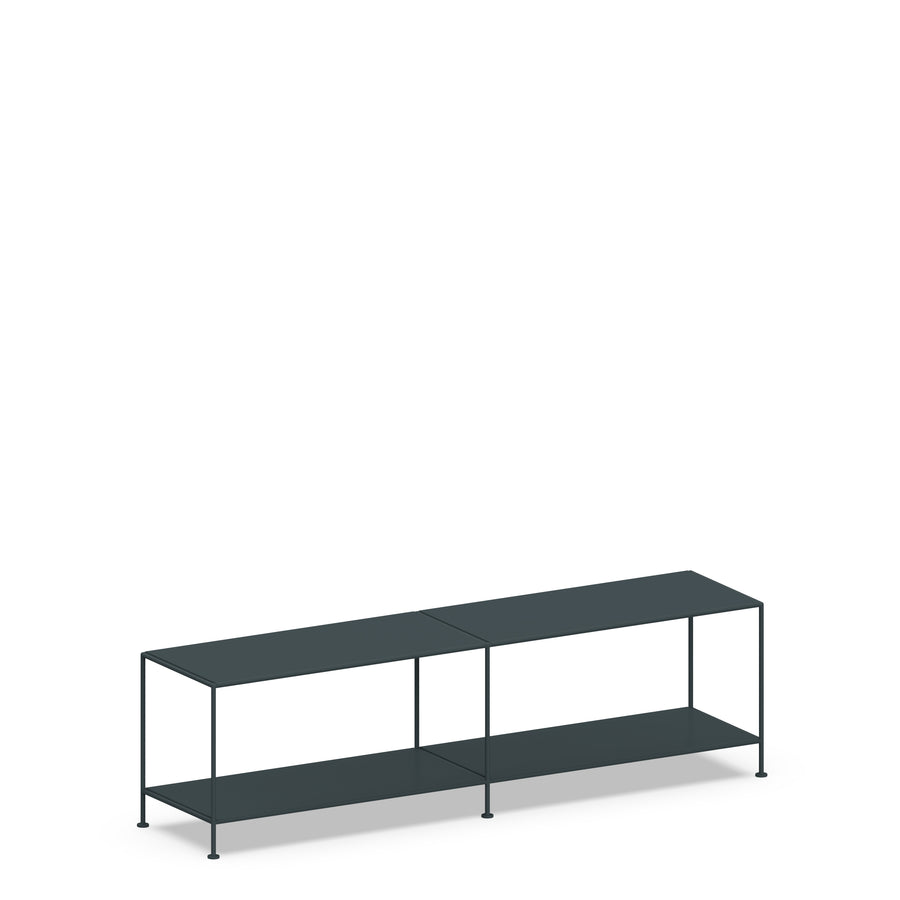 Stille Furniture Media Console Shallow in Slate color
