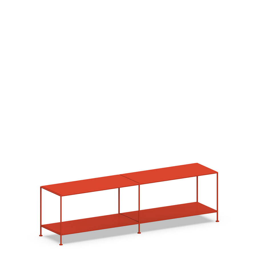 Stille Furniture Media Console Shallow in Tomato color