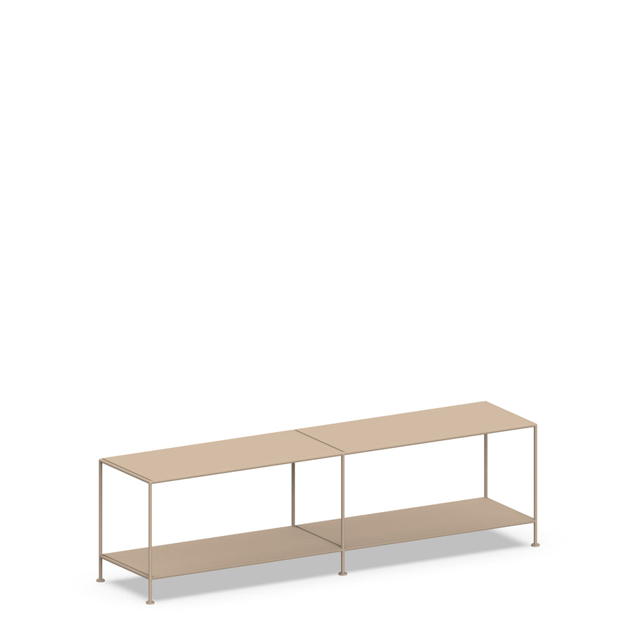 Stille Furniture Media Console Shallow in Taupe color