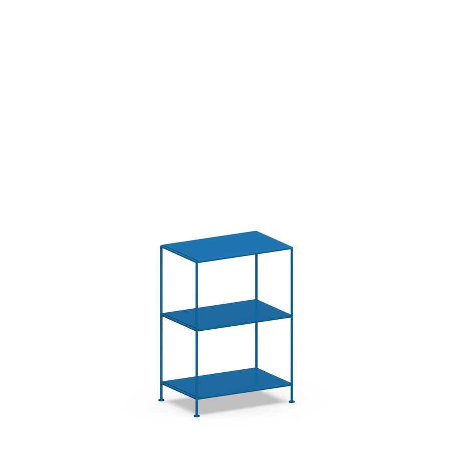 Stille Furniture Narrow Shelves 3-tier in Cobalt color
