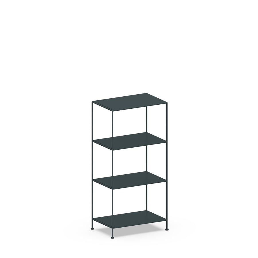 Stille Furniture Narrow Shelves 4-tier in Slate color