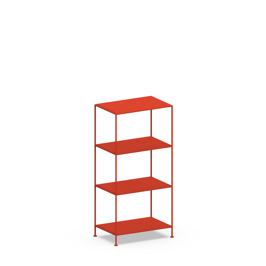 Stille Furniture Narrow Shelves 4-tier in Tomato color