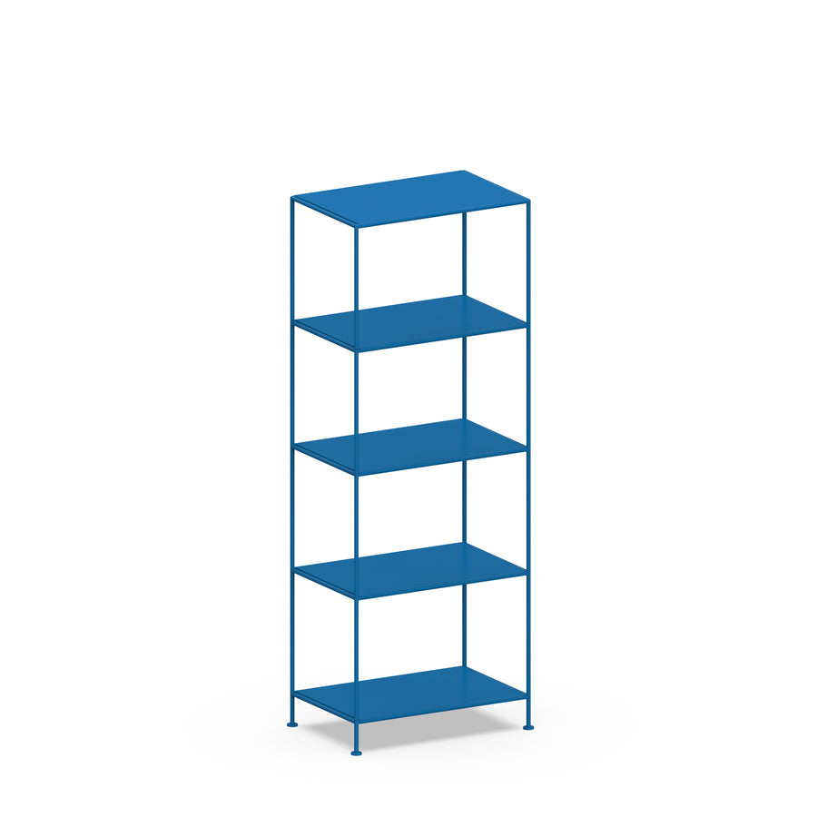 Stille Furniture Narrow Shelves 5-tier in Cobalt color