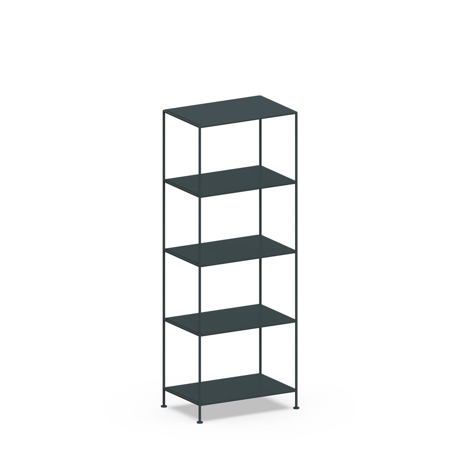 Stille Furniture Narrow Shelves 5-tier in Slate color