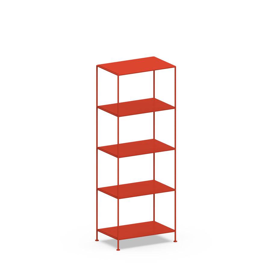 Stille Furniture Narrow Shelves 5-tier in Tomato color