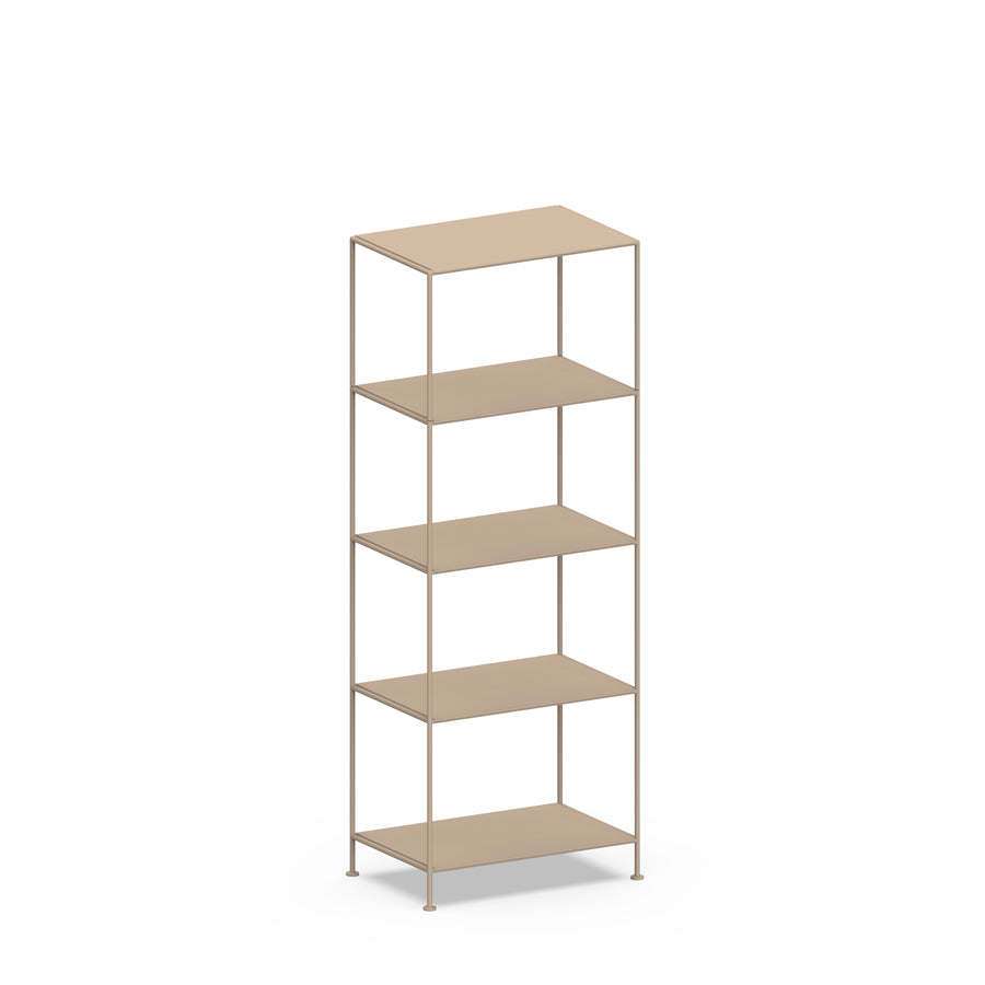 Stille Furniture Narrow Shelves 5-tier in Taupe color