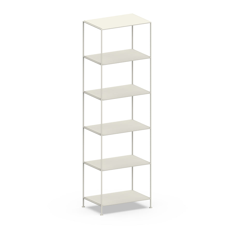 Stille Furniture Narrow Shelves 6-tier in Bone color