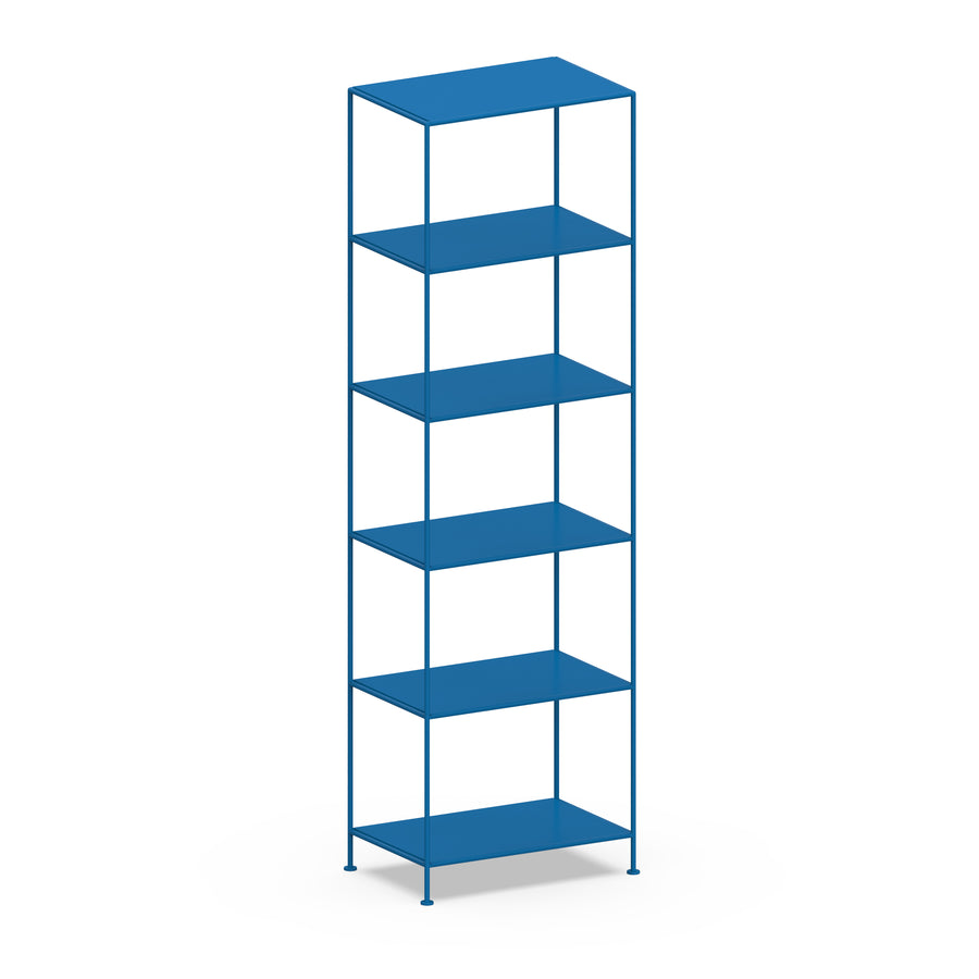 Stille Furniture Narrow Shelves 6-tier in Cobalt color