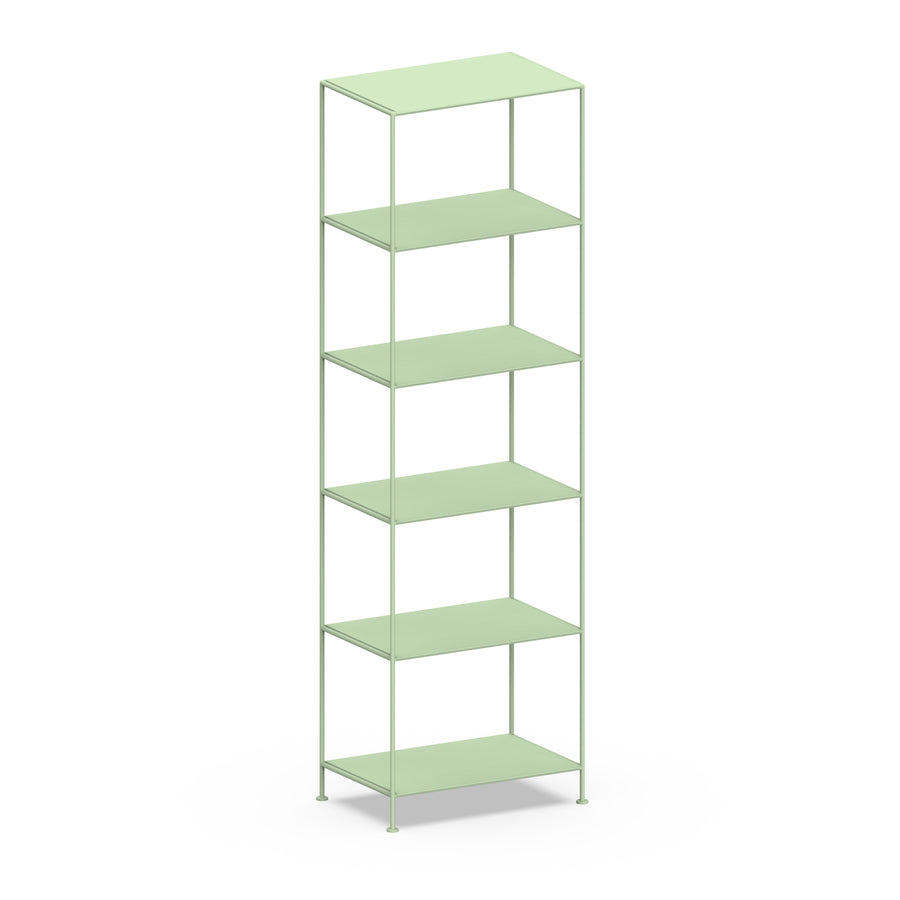 Stille Furniture Narrow Shelves 6-tier in Mint color