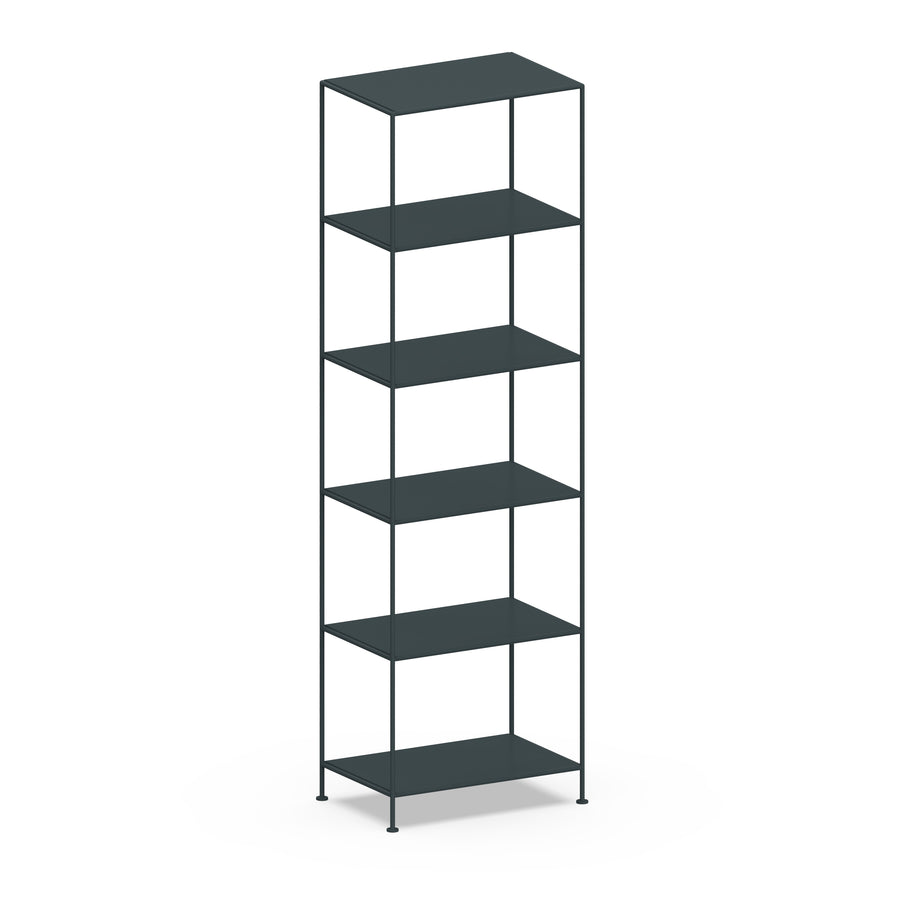 Stille Furniture Narrow Shelves 6-tier in Slate color