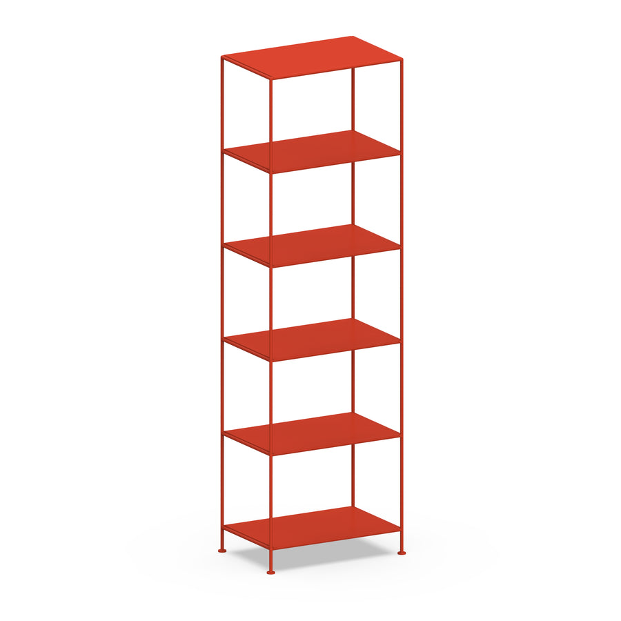 Stille Furniture Narrow Shelves 6-tier in Tomato color