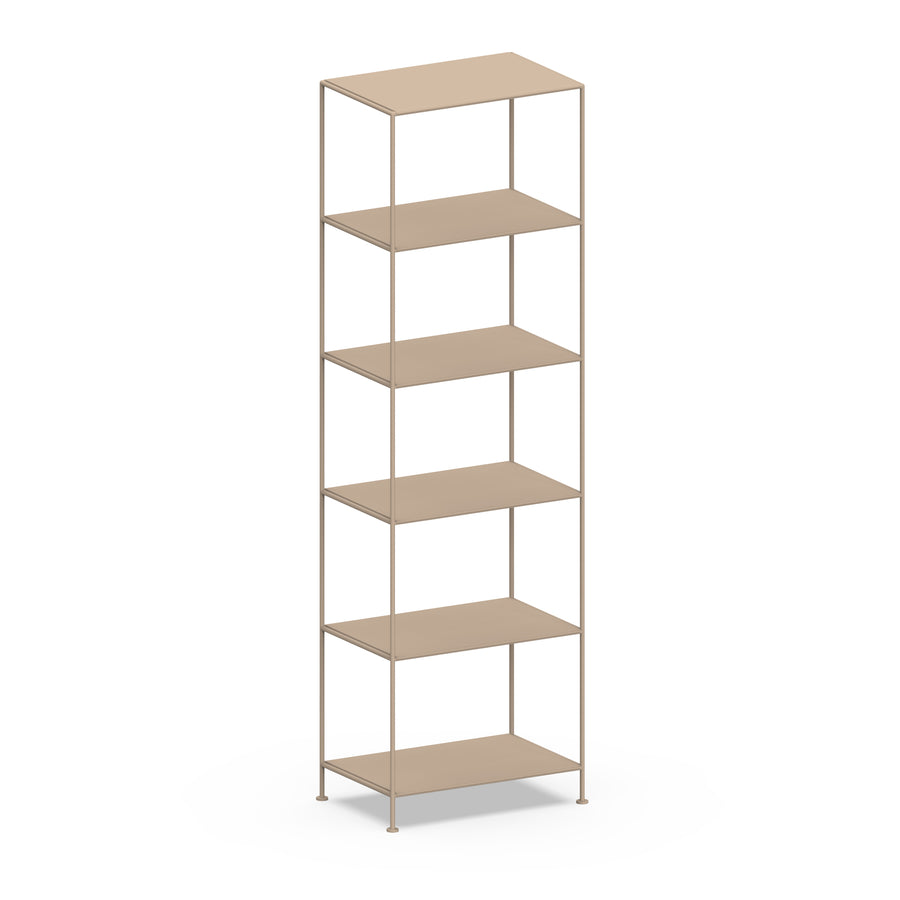Stille Furniture Narrow Shelves 6-tier in Taupe color