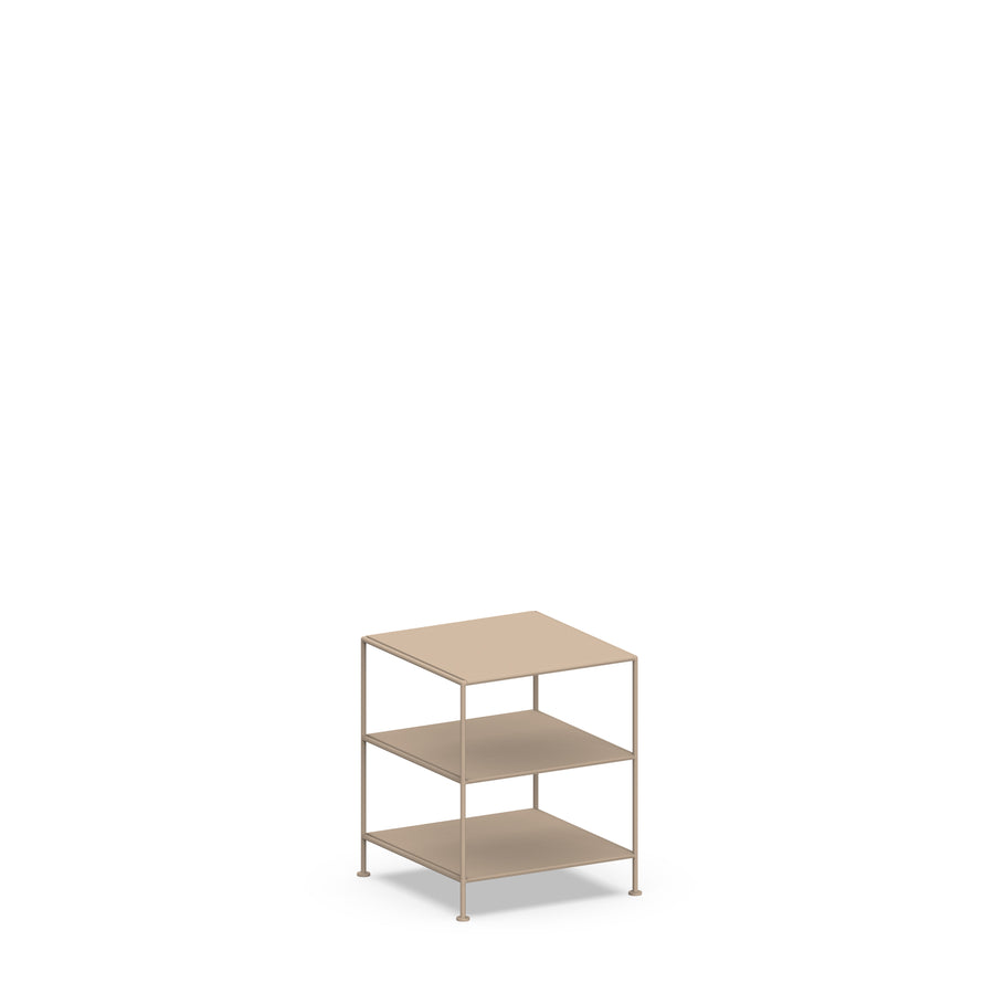 Stille Furniture Side Table High in Taupe color