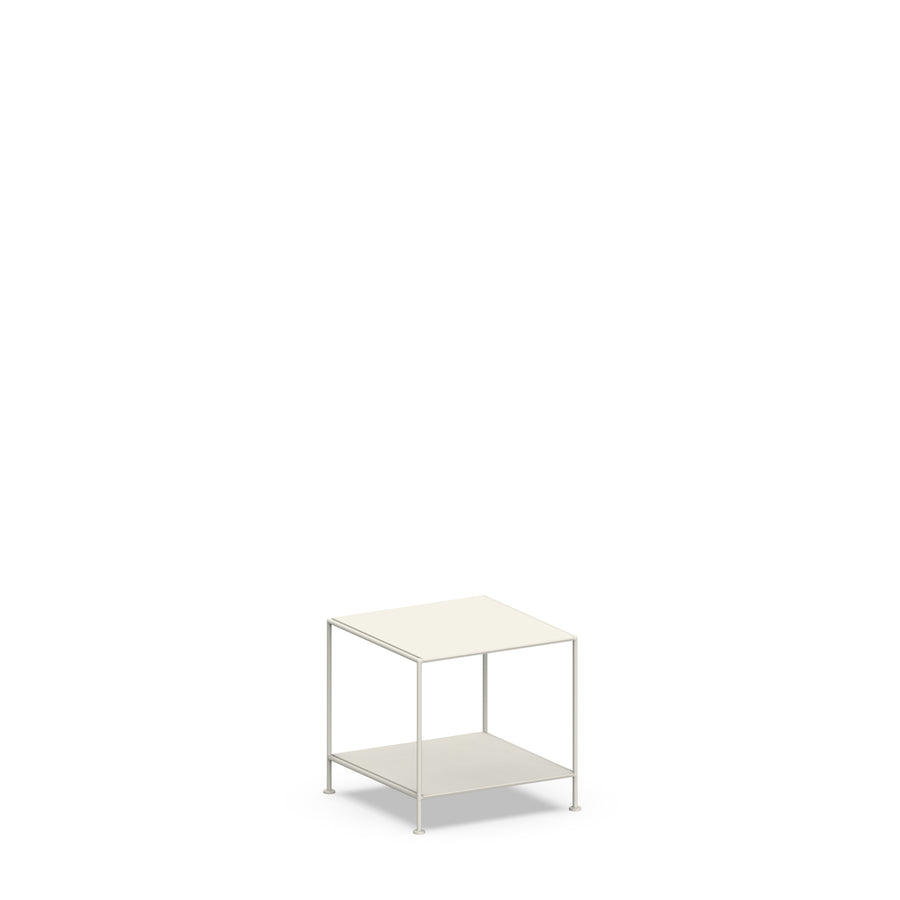 Stille Furniture Side Table Low in Bone color