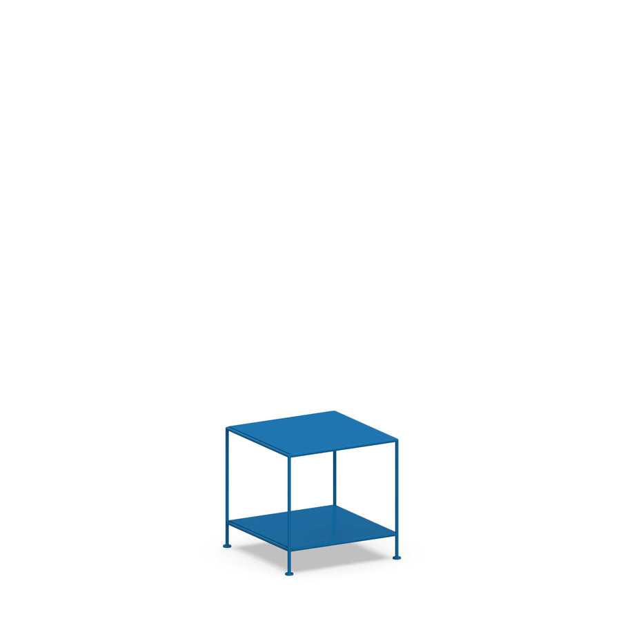 Stille Furniture Side Table Low in Cobalt color