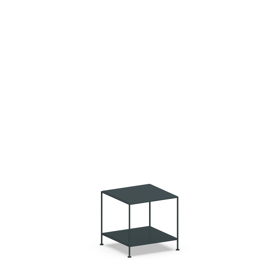 Stille Furniture Side Table Low in Slate color