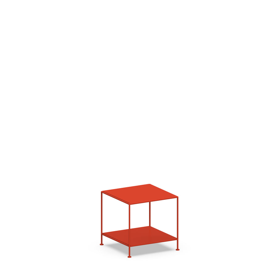 Stille Furniture Side Table Low in Tomato color