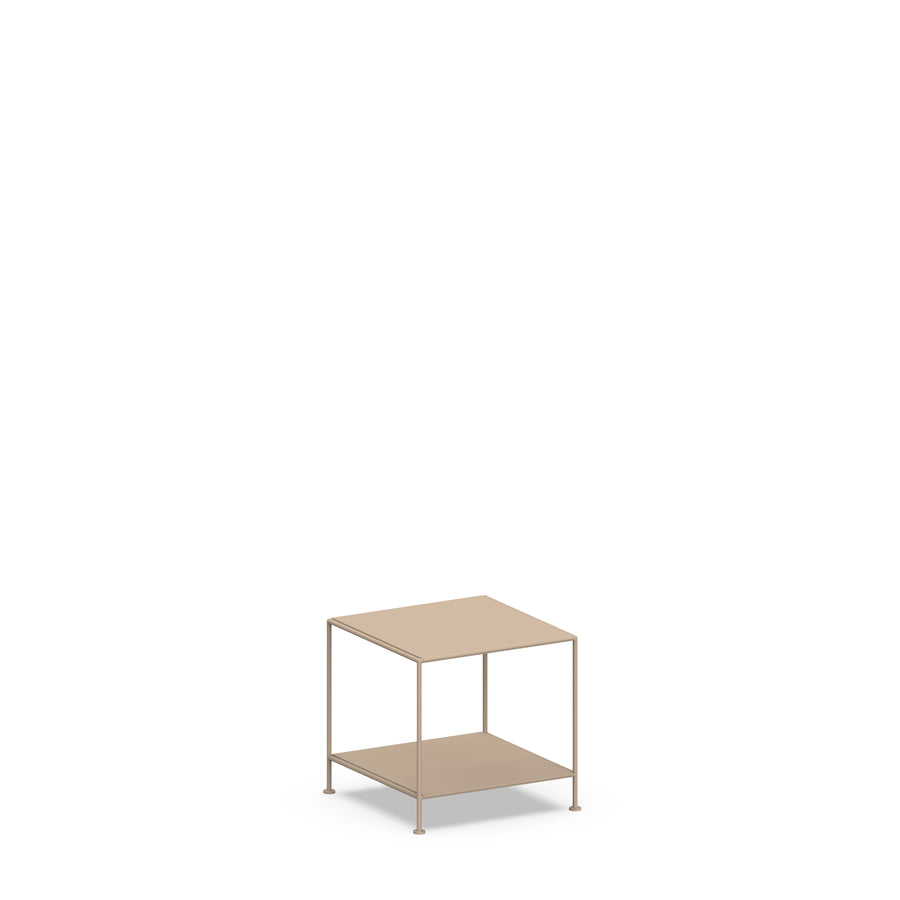 Stille Furniture Side Table Low in Taupe color
