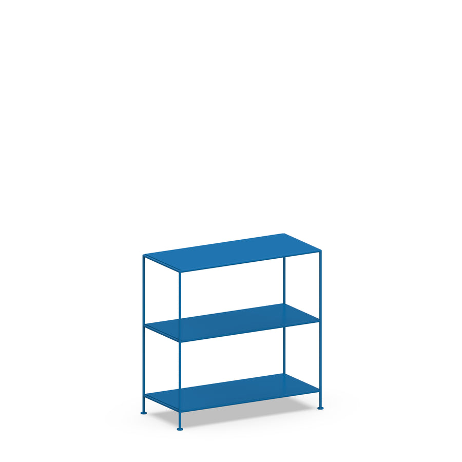 Stille Furniture Wide Shelves 3-tier in Cobalt color