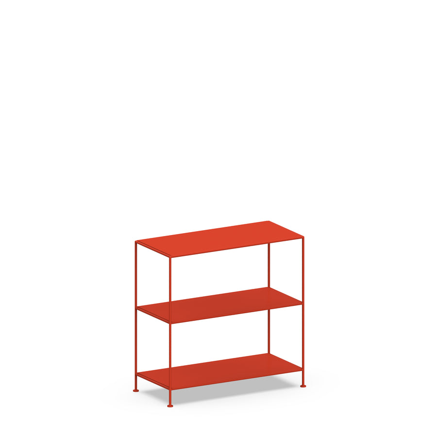 Stille Furniture Wide Shelves 3-tier in Tomato color
