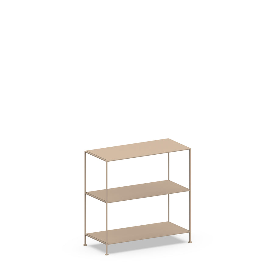 Stille Furniture Wide Shelves 3-tier in Taupe color