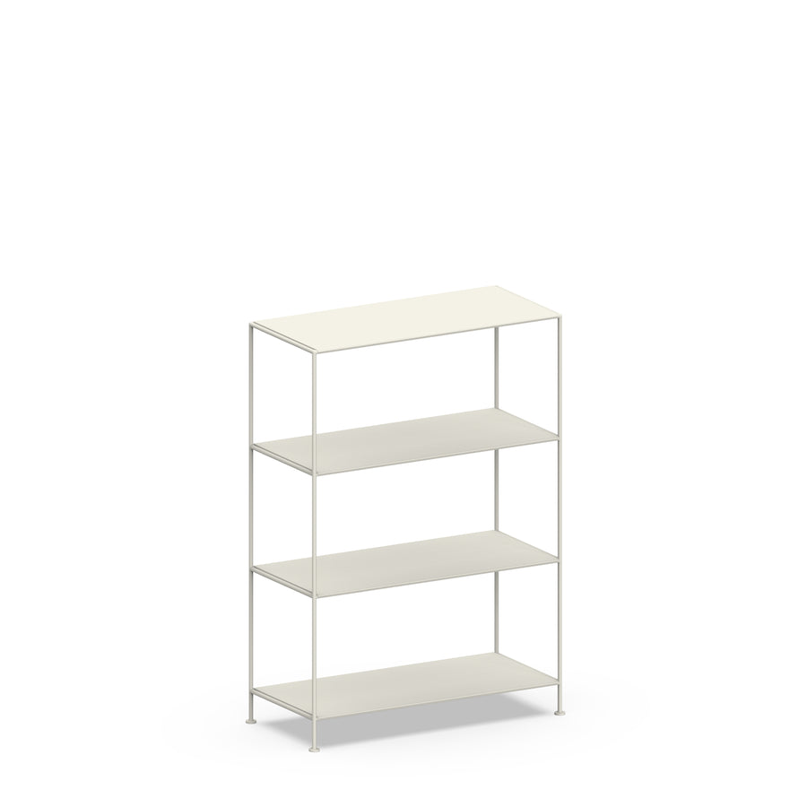 Stille Furniture Wide Shelves 4-tier in Bone color