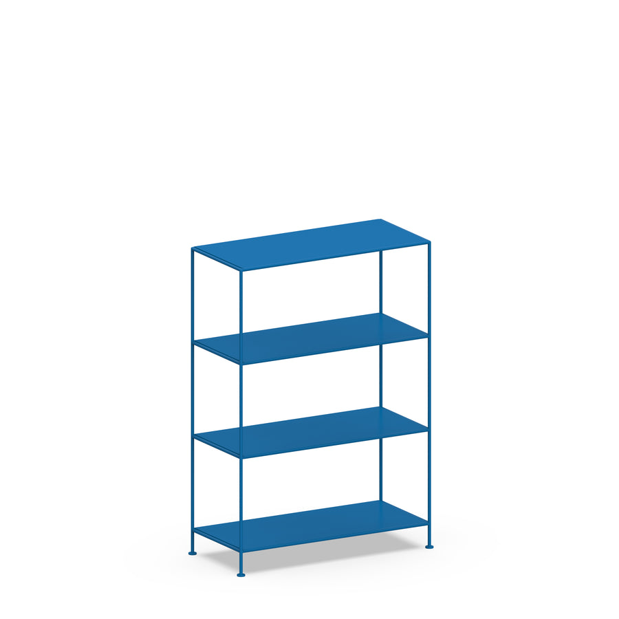 Stille Furniture Wide Shelves 4-tier in Cobalt color