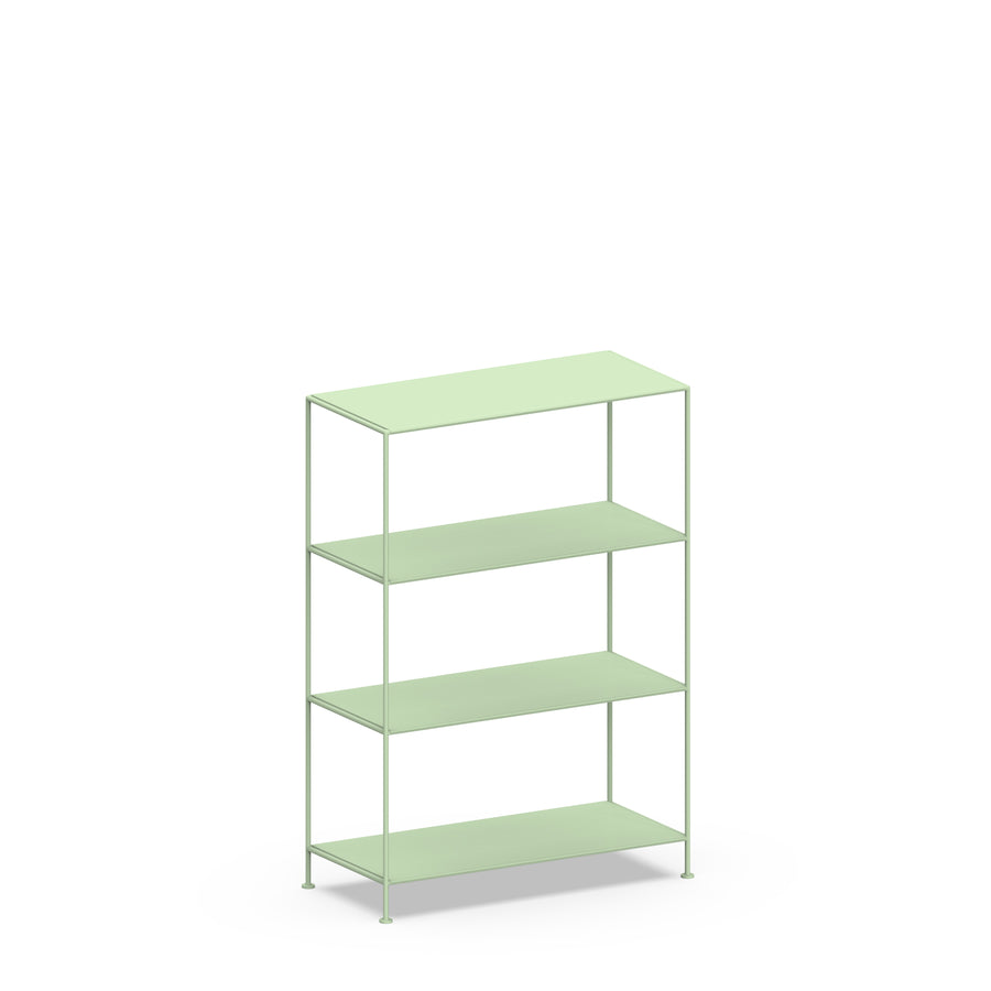 Stille Furniture Wide Shelves 4-tier in Mint color