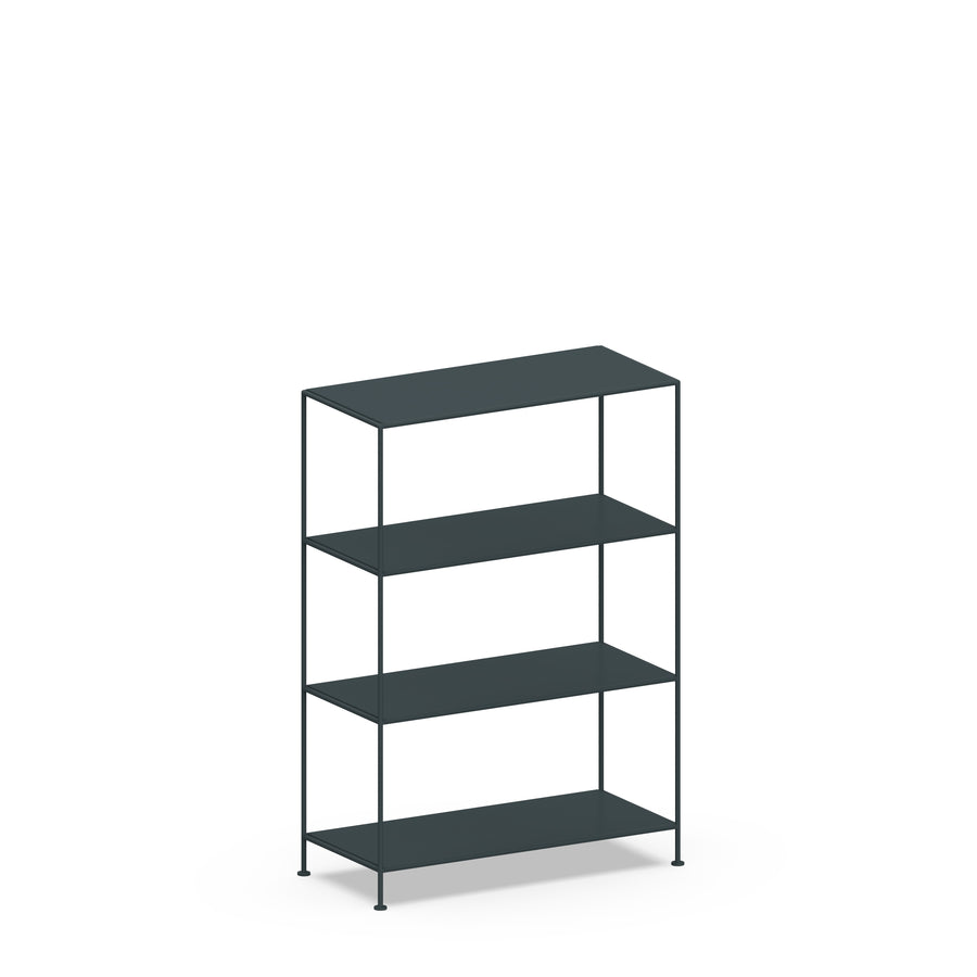 Stille Furniture Wide Shelves 4-tier in Slate color