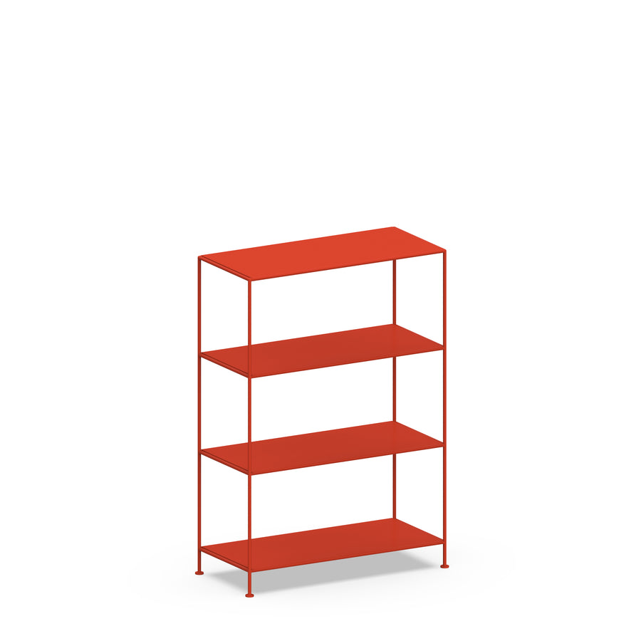 Stille Furniture Wide Shelves 4-tier in Tomato color