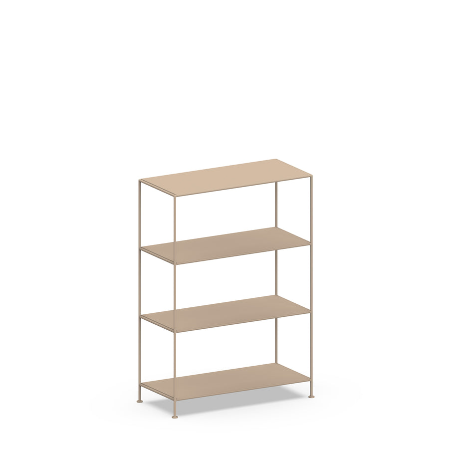 Stille Furniture Wide Shelves 4-tier in Taupe color