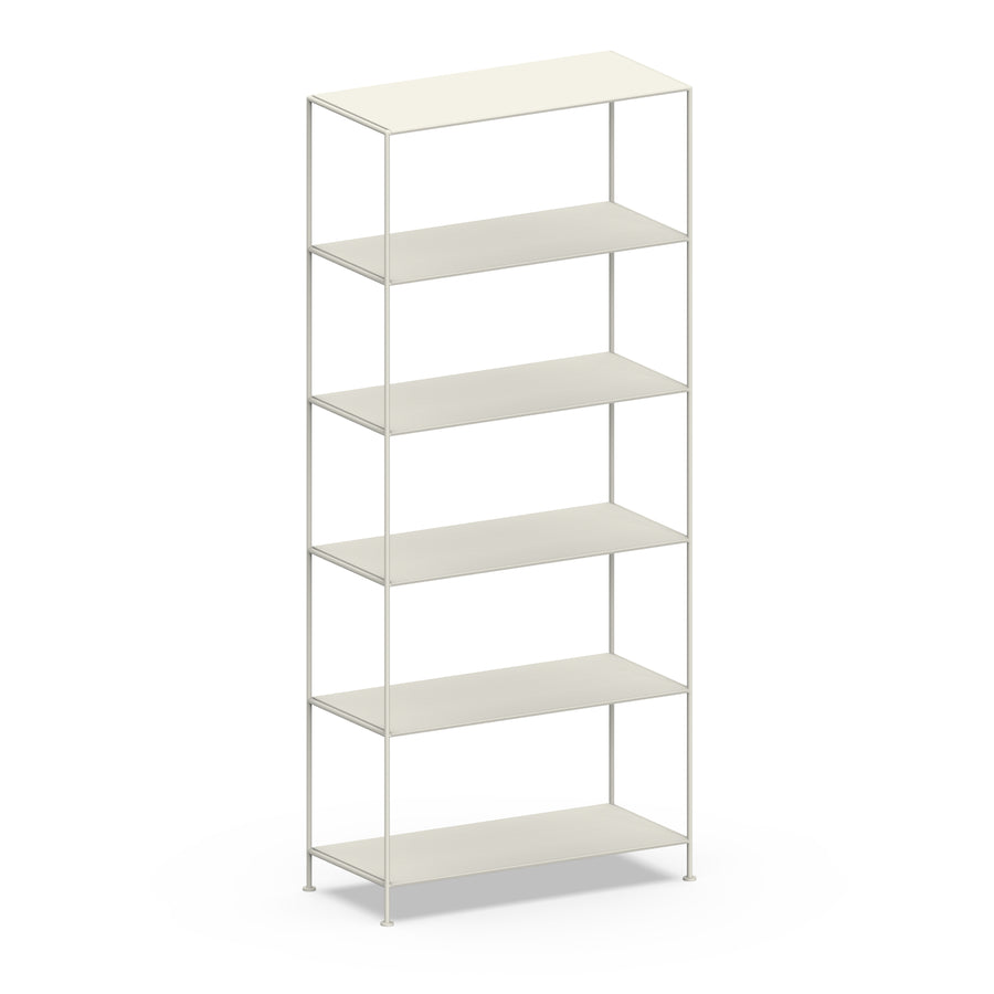 Stille Furniture Wide Shelves 6-tier in Bone color