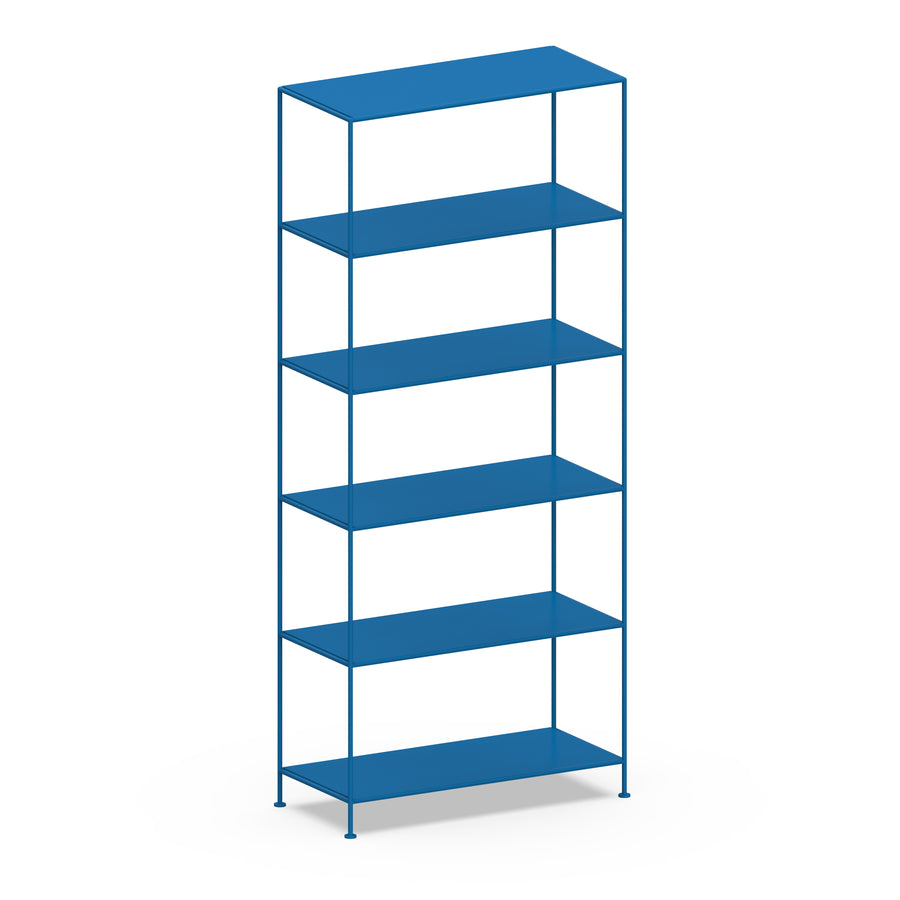 Stille Furniture Wide Shelves 6-tier in Cobalt color